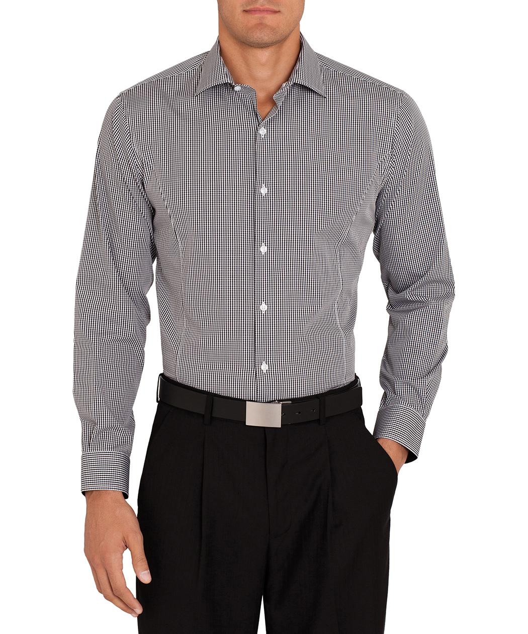 395207233f ... Van Heusen Studio Cotton Black Gingham Check Shirt. Product Image ·  Image 1 ...