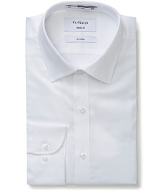 Classic Relaxed Fit Shirt White Cotton
