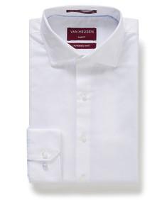 Slim Fit Shirt White Diamond Textured