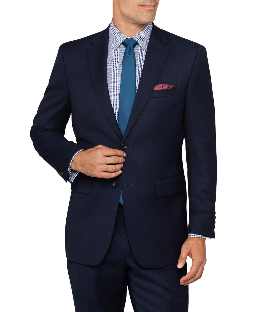 16042387b5a Van Heusen. Euro Tailored Fit Move Suit Jacket Navy