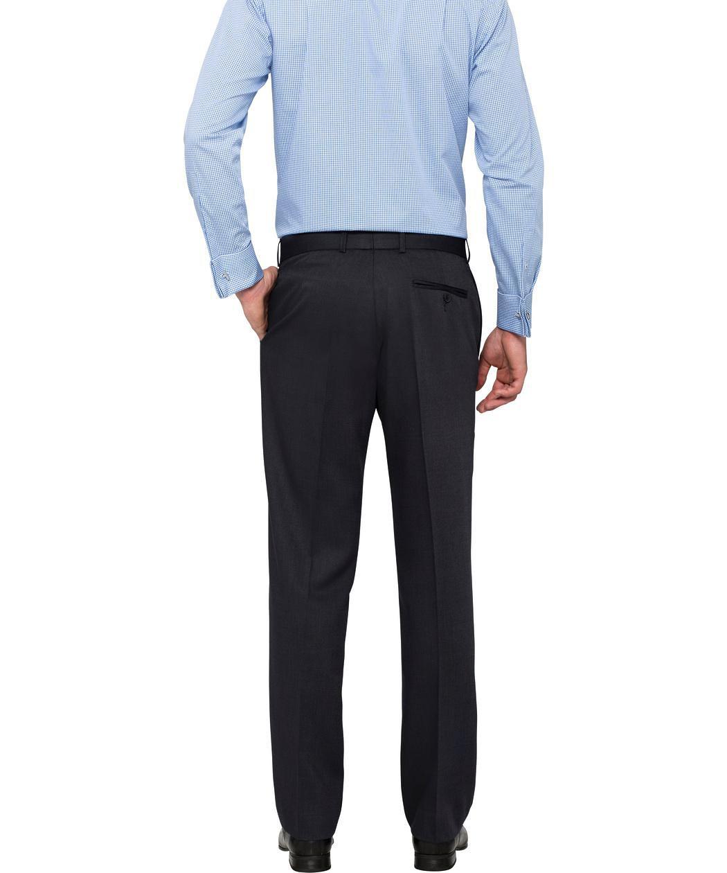 van heusen classic fit navy texture pant mens pants