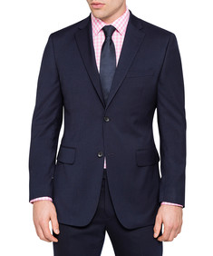 Slim Fit Suit Jacket Navy Twill