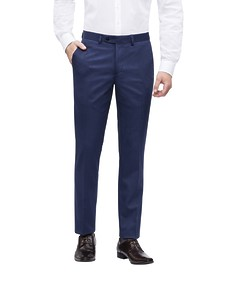 Classic Relaxed Fit Business Trousers Ink Textured