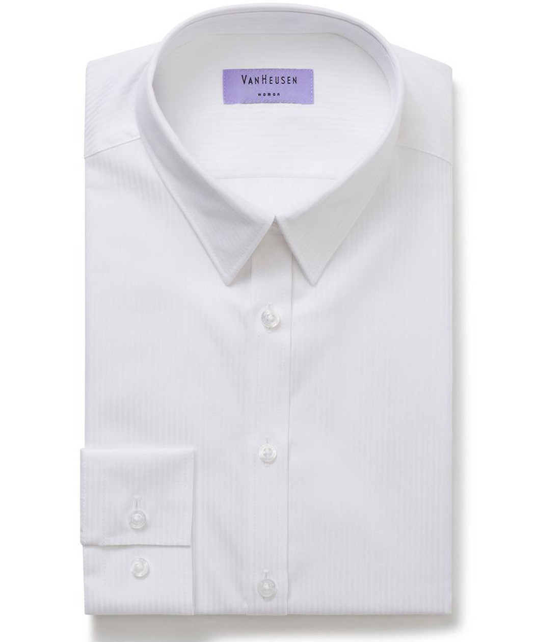 Van Heusen Womens Mini Herringbone Classic Fit Shirt