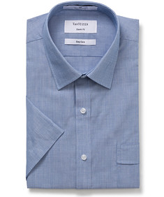 Classic Relaxed Fit Short Sleeve Shirt Royal Blue