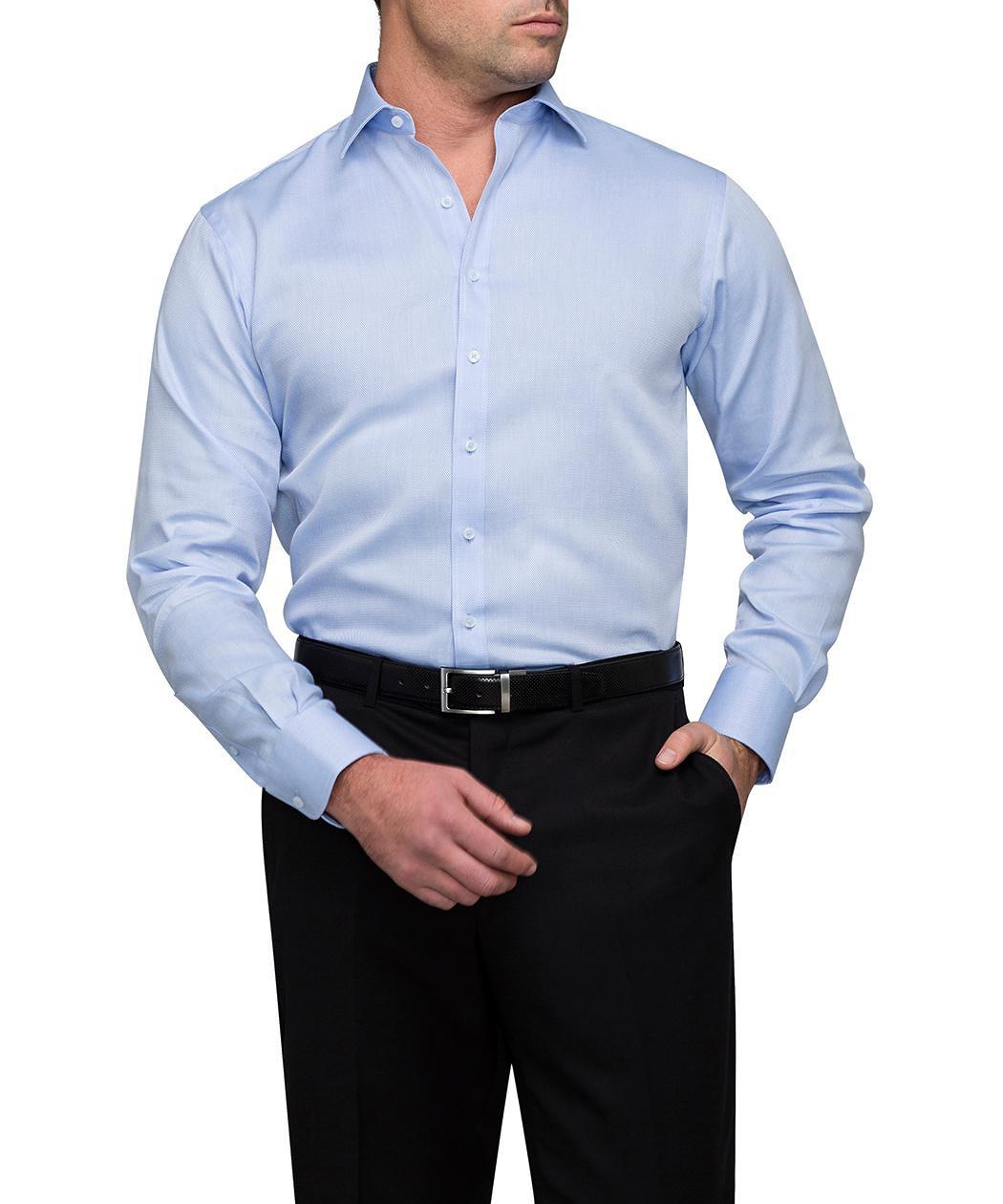 van heusen men 39 s euro fit shirt herringbone mens
