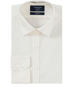 Euro Tailored Fit Shirt Solid Ivory
