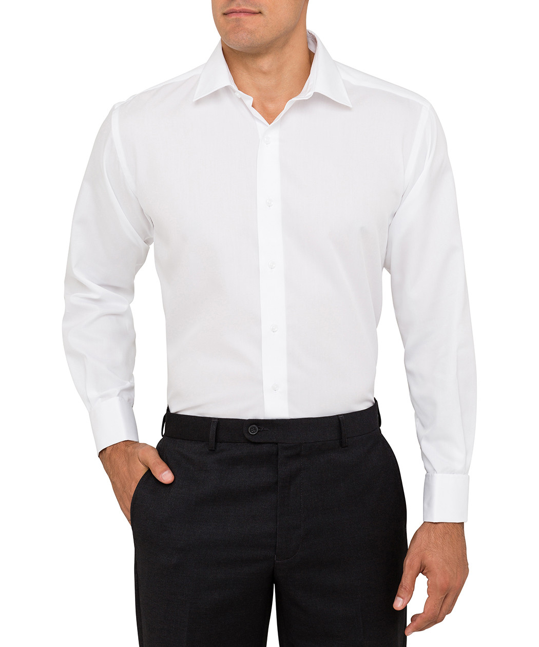Van Heusen Euro Fit Cotton White Mens Shirt | Van Heusen Australia