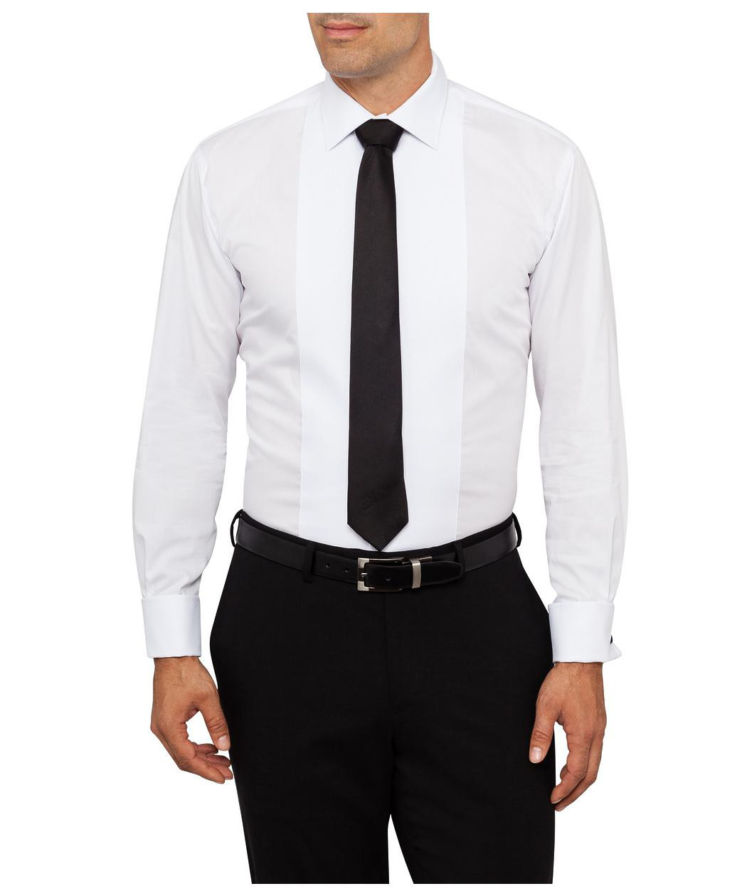 Van heusen cotton semi spread collar euro dinner shirt for Men s spread collar shirts