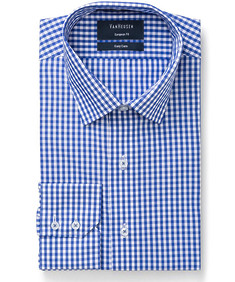 Euro Tailored Fit Shirt Contrast Medium Check