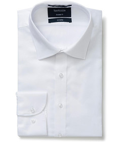 Euro Tailored Fit Shirt Dobby White