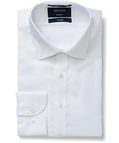 Euro Tailored Fit Shirt Dobby White
