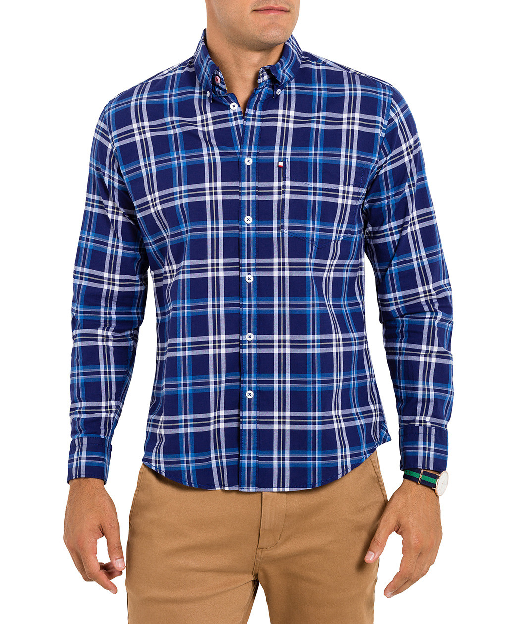 Van Heusen Mens Big & Tall Wrinkle Free Grid Print Shirt. Van Heusen dedicates itself to providing high quality, stylish attire. Short sleeve wrinkle free shirt features a button up front, chest pocket, a button down point collar, and a grid plaid print. more.