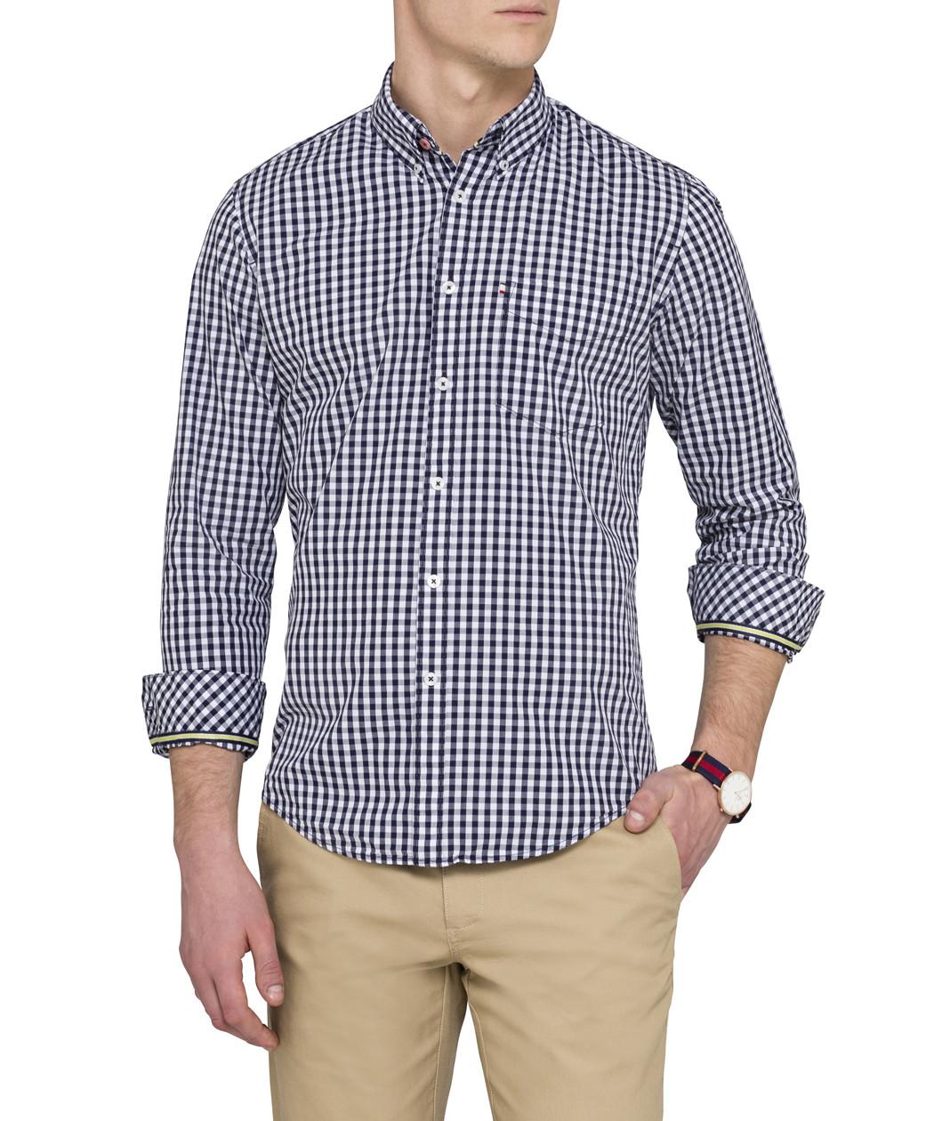 Gingham Mens Dress Shirt