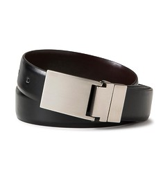 Mens Business Belt Black with Solid Buckle