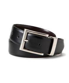 Mens Reversible Belt Rectangle Buckle