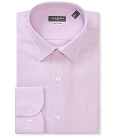 Classic Relaxed Fit Shirt Lilac Birdseye