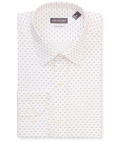 Classic Relaxed Fit Shirt White Square Print