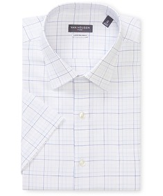 Classic Relaxed Fit Short Sleeve Shirt White Multi Check