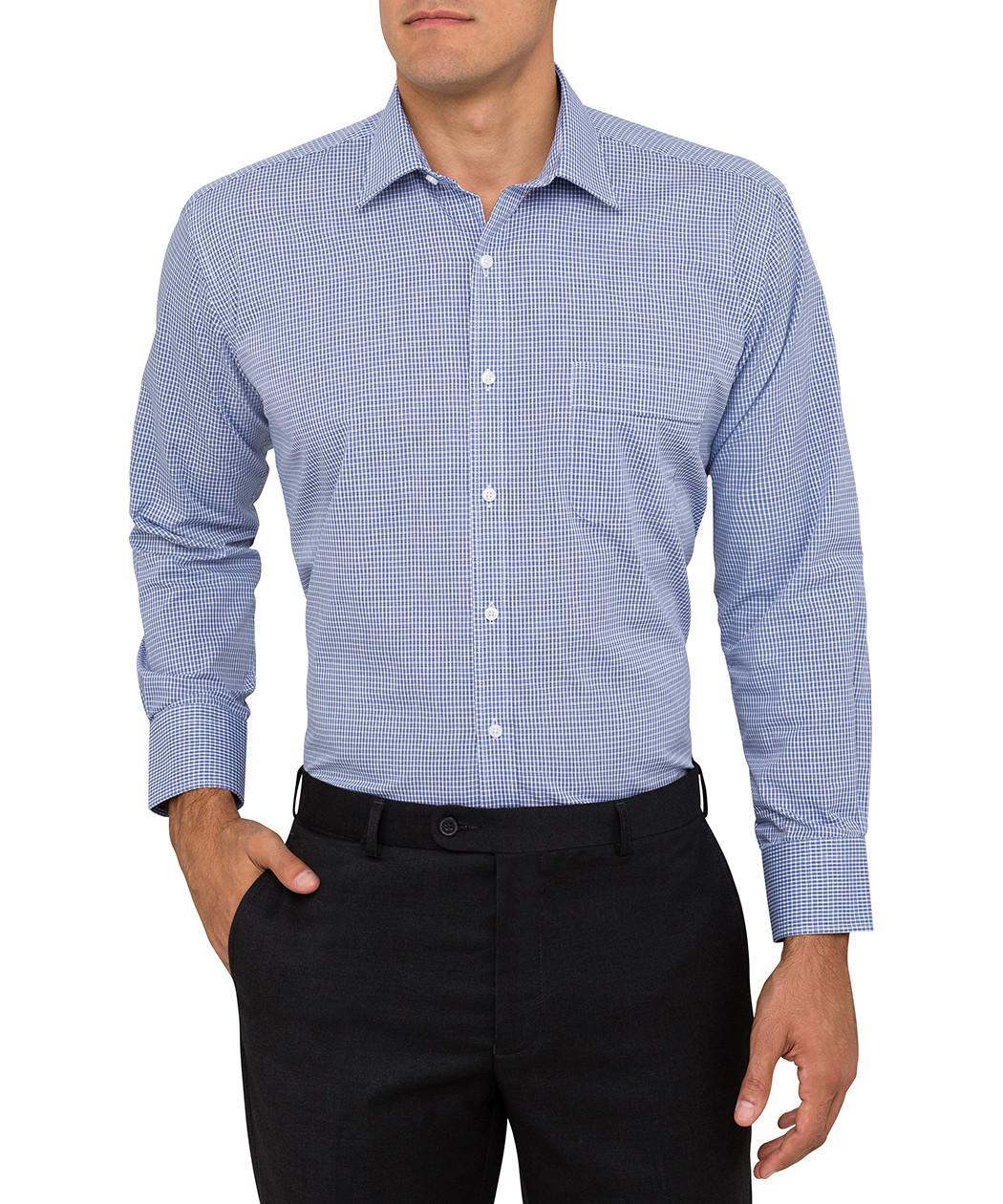 b78f74a05e0 ... Van Heusen Blue Check Classic Fit Shirt. Product Image · Image 1 ...