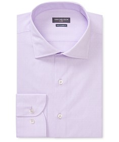 Euro Tailored Fit Shirt Lilac Dobby Pattern