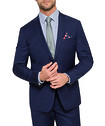 Euro Tailored Fit Suit Jacket Ink Fine Stripe