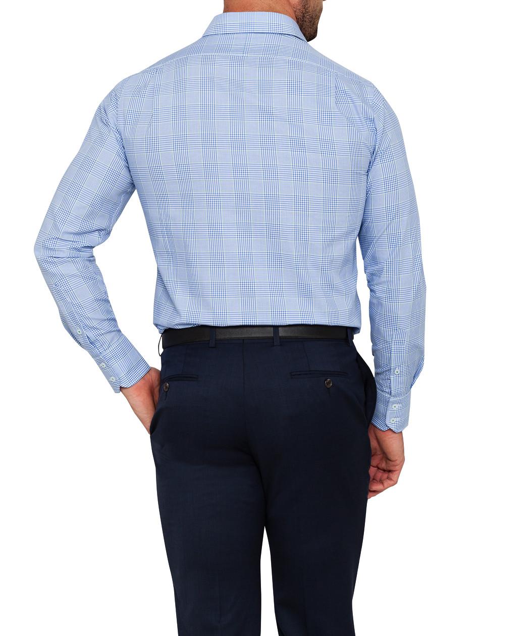 fec90c90670 Mens Euro Fit Shirt Navy Green Check