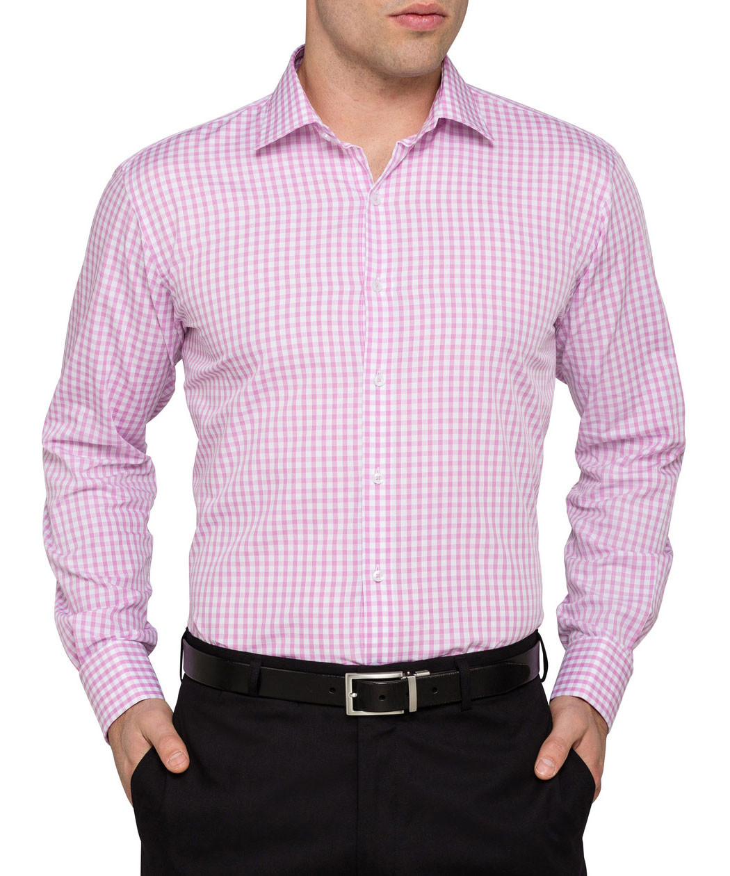 c82db0ff5ee ... Van Heusen Pink Check French Cuff Euro Fit Shirt. Product Image · Image  1 ...