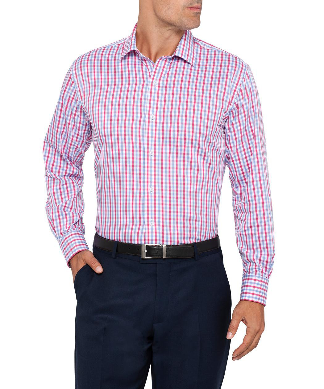 Van Heusen Euro Fit Pink and Blue Check Shirt | Van Heusen Shirts ...