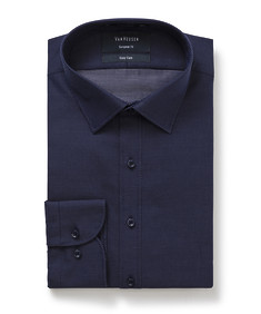 Euro Tailored Fit Shirt Navy with White Spec Design