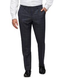 Euro Tailored Fit Suit Pant Navy Diamond Texture