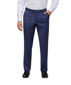Euro Tailored Fit Suit Pant Ink Window Pane Check