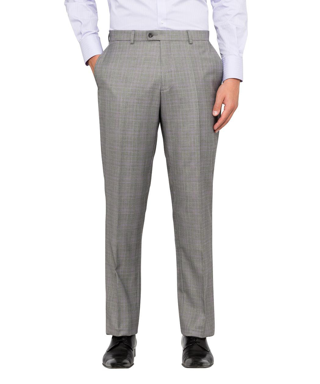 Van Heusen Euro Suit Pants Prince Of Wales Grey | Suit Pants | Van