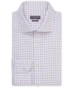Euro Tailored Fit Shirt Blue Purple Outline Check