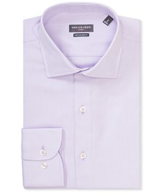Euro Tailored Fit Shirt Purple Dobby