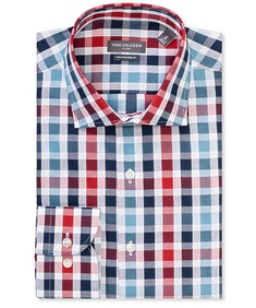 Euro Tailored Fit Shirt Large Gingham Check