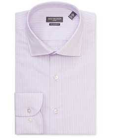 Euro Tailored Fit Shirt Mauve Bold Stripe