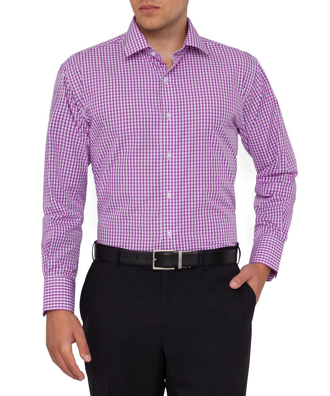Van Heusen Mens Slim Fit Shirt Purple Check Mens Shirt