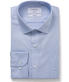 Classic Relaxed Fit Shirt Dobby Stripe
