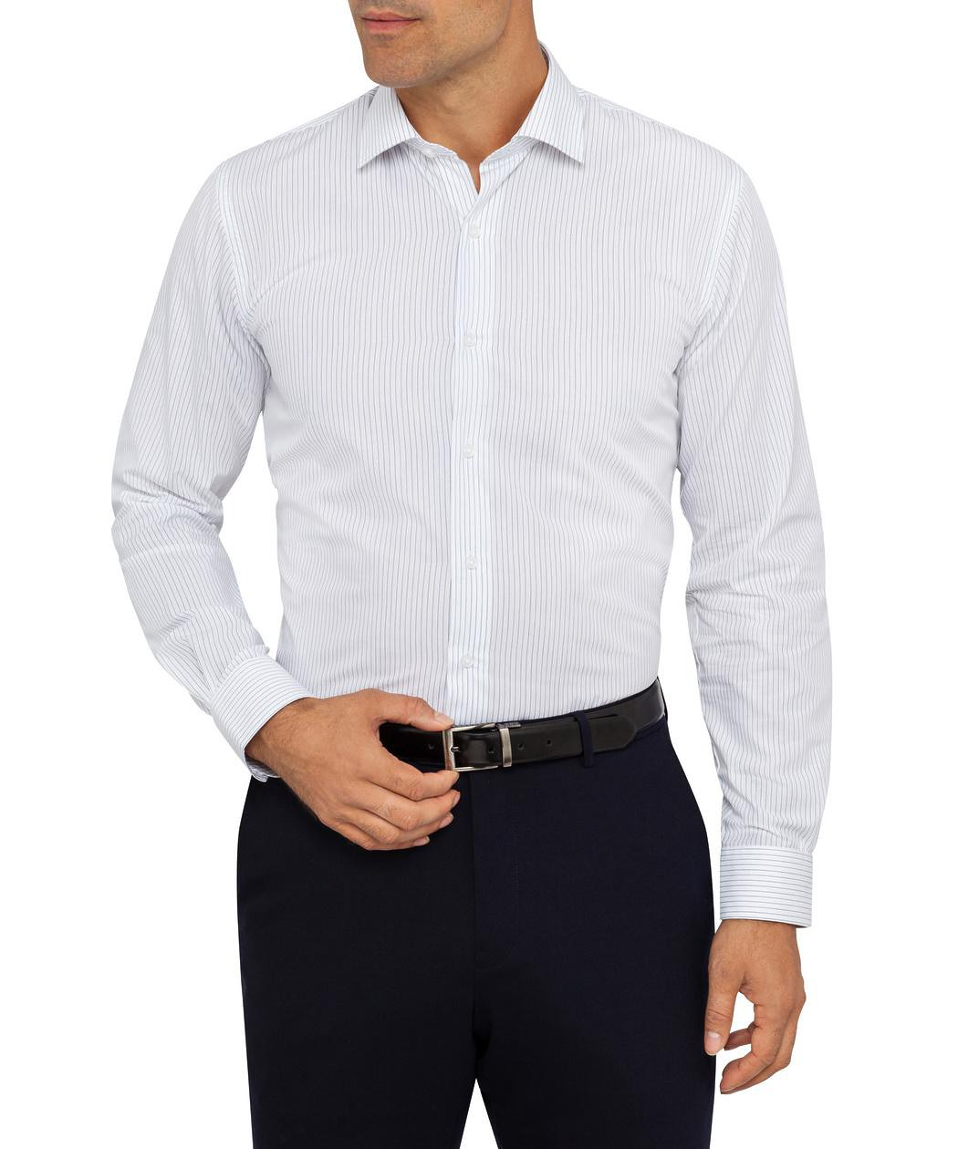 Van Heusen Slim Fit White Stripes Shirt Mens Shirt Van Heusen