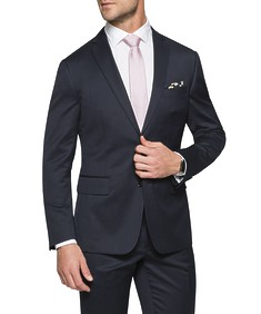 Euro Tailored Fit Suit Jacket Dark Navy