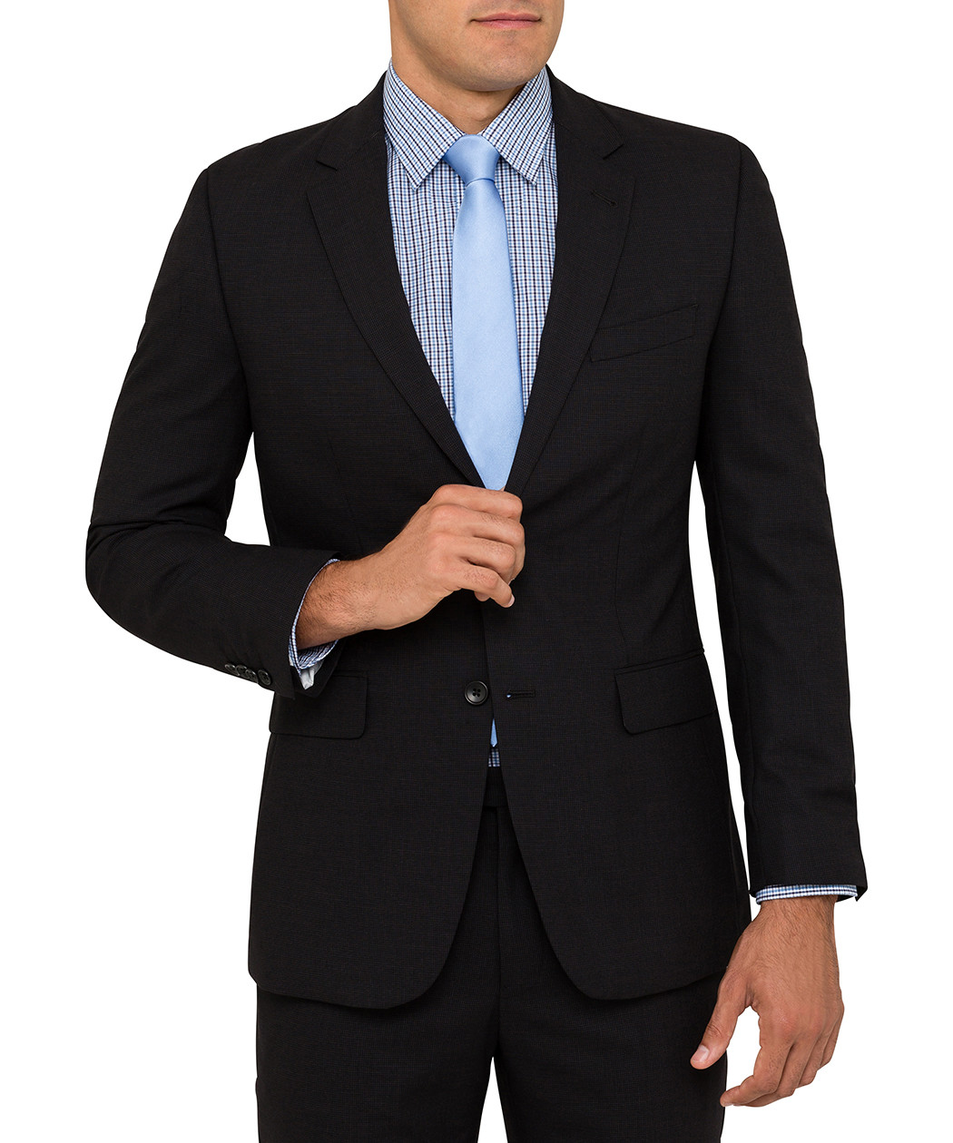Van Heusen Slim Fit Textured Black Suit Jacket | Mens Jackets