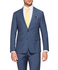 Slim Fit Suit Jacket Navy Fine Stripe
