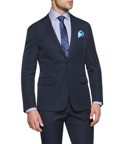 Slim Fit Suit Jacket Dark Navy
