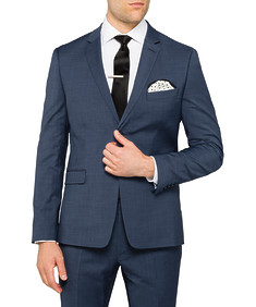 Super Slim Fit Suit Jacket Blue