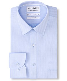 Classic Relaxed Fit Shirt Blue Dobby Dot