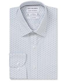 Classic Relaxed Fit Shirt Blue Iris Print