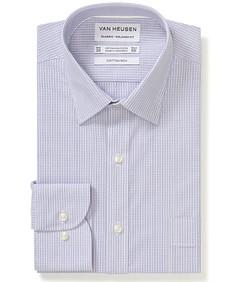 Classic Relaxed Fit Shirt Mauve Mini Checks