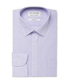 Classic Relaxed Fit Shirt Lilac Vertical Stripes