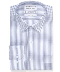 Classic Relaxed Fit Shirt Blue Black Window Check